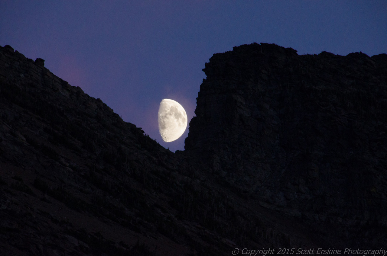 Moon Rise over Wynn Mountain