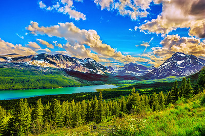 """Emerald Wish,"" Lower Two Medicine Lake, Glacier National Park, Montana"