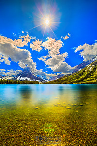 """""""Fool's Gold,"""" Sinopah Mountain and Two Medicine Lake, Glacier National Park"""