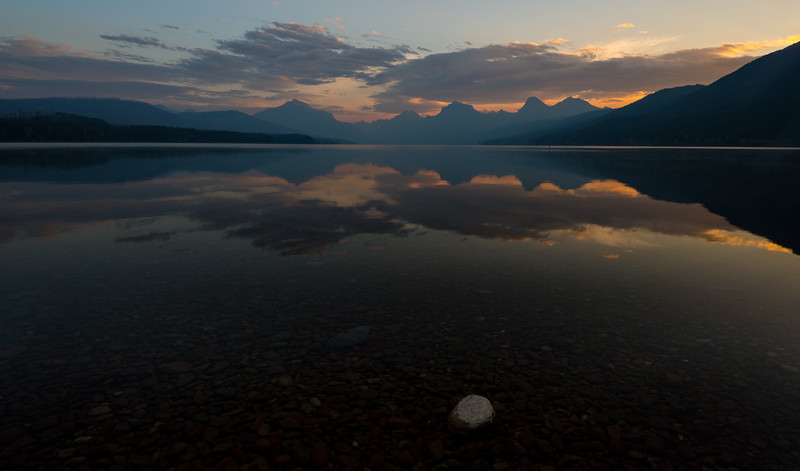 Sunrise, Lake Mcdonald, Glacier National Park