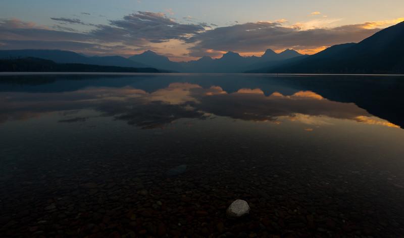 Sunrise, Lake Mcdonald, Glacier National Park