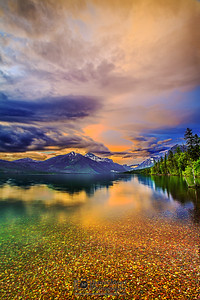 """Alpine Clarity,"" Lake McDonald Sunset, Glaicer National Park"