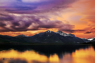 """Mountain Gold,"" Lake McDonald Sunset, Glaicer National Park"