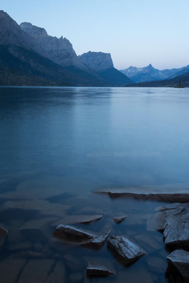 Submerged Rocks, St Mary Lake