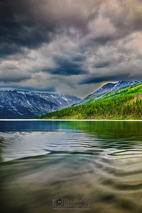 """Ripple Effect,"" Kintla Lake, Glacier National Park, Montana"
