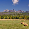Glacier National Park, Montana, glacier, national, park, west side, hay bales, mountains