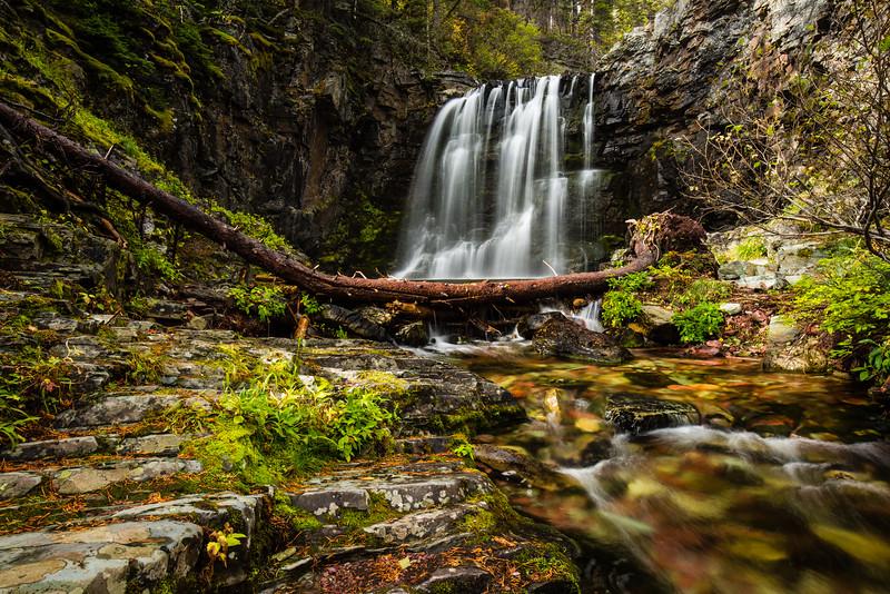 Rockwell Falls, Glacier National Park