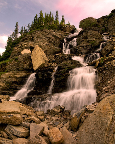 Glacier Water Falls - Glacier National Park, Montana - John Remy - July 2009