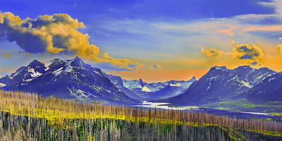 """Mary's Light,"" Saint Mary Lake Sunset, Glacier National Park"