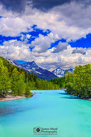 """""""Turquoise Flow,"""" Mount Doody, Cloudcraft Peaks and the Middle Fork Flathead River, Glacier National Park"""