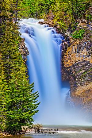 """Trick Flow,"" Running Eagle Falls (Trick Falls), Glaicer National Park, Montana"