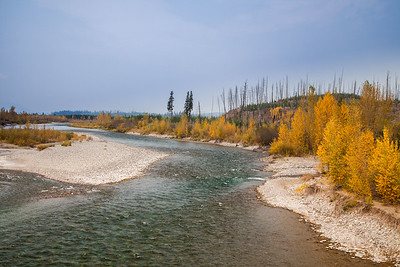 North Fork of the Flathead River at Northwest entrance to Glacier