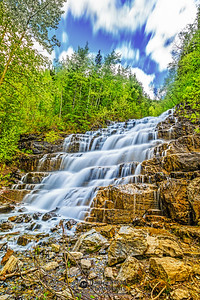 Silver Staircase Falls, Glacier National Park
