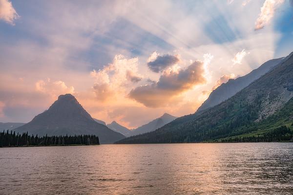 Light Rays - Two Medicine Lake
