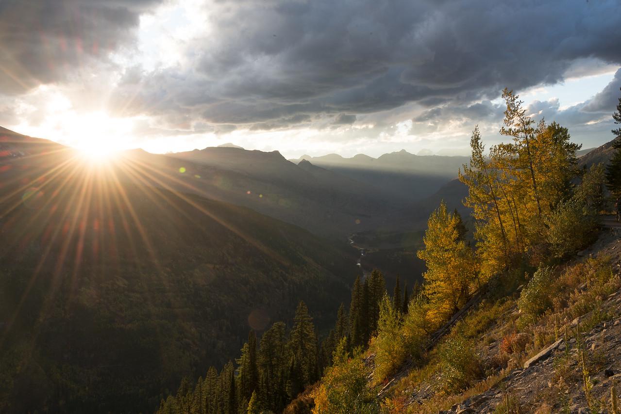 Logan Pass Sunset, Glacier National Park