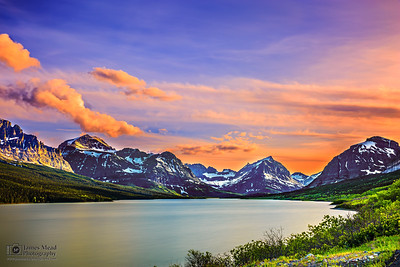 """Wild Mystery,"" Sherburne Lake Sunset, Glacier National Park, Montana"