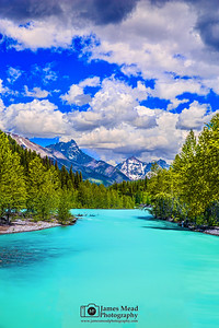"""Turquoise Glimmer,"" Mount Doody, Cloudcraft Peaks and the Middle Fork Flathead River, Glacier National Park"