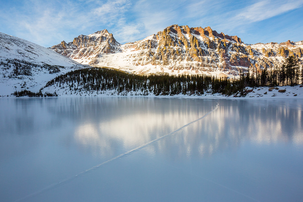 Frozen Cobalt Lake, Glacier National Park