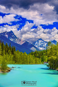 """""""Blue Opal,"""" Mount Doody, Battlement Mountain, Cloudcraft Peaks and the Middle Fork Flathead River, Glacier National Park"""