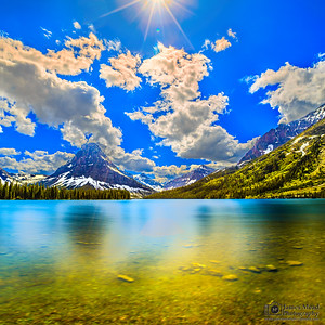 """Medicine Light,"" Sinopah Mountain and Two Medicine Lake, Glacier National Park"