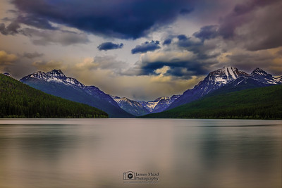 """Summer Rage,"" Storms over Bowman Lake, Glacier National Park, Montana"