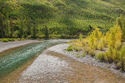 North Fork of the Flathead River just North of entrance to Glacier