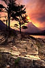 Sunset Over Swiftcurrent Lake - Glacier National Park, Montana - John Hewitt - July 2003