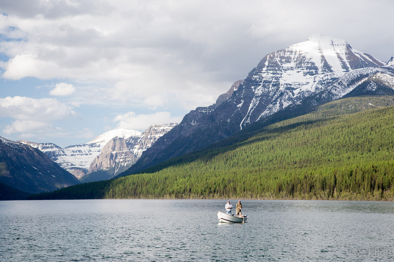 Cutthroat fishing on Bowman Lake catch and release only