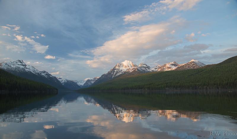 Sunset on Bowman Lake
