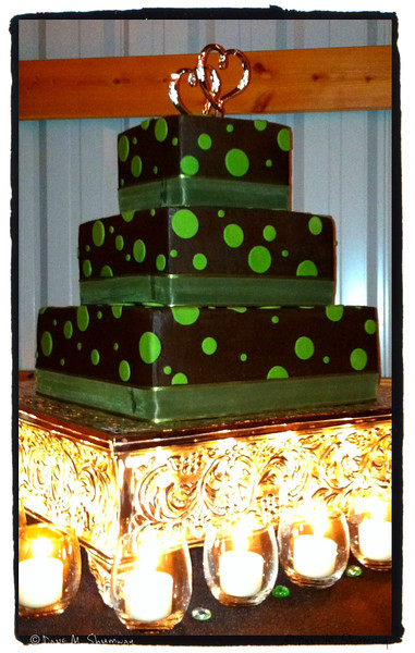 Chris & Marni's Wedding Cake (they had a beautiful color scheme for the wedding)<br /> iPhone Snap