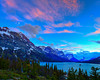 This was that first sunset from my trip to Glacier National Park, that one I called a bust. <br /> (As you can see with HDR I was able to make something; but not really in line with my tastes)<br /> Captured with a Canon 5DII with 17-40/4.0L in manual mode at ISO100, f/11, and 1/4th of a second. The camera was mounted on a Gitzo 3540XLS and Arca-Swiss Z1sp ball head.