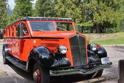 #80 Red Bus @ Glacier National Park