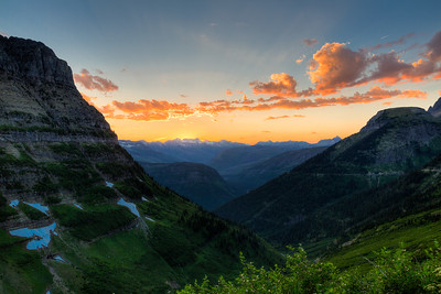 Glacier - Mountain Sunset