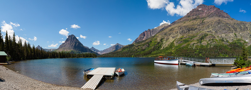 Glacier - Two Medicine Lake Pano