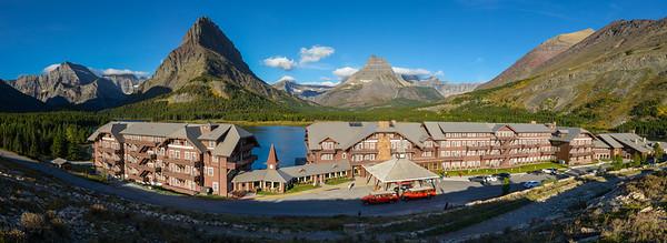 Glacier - Many Glacier Hotel Pano