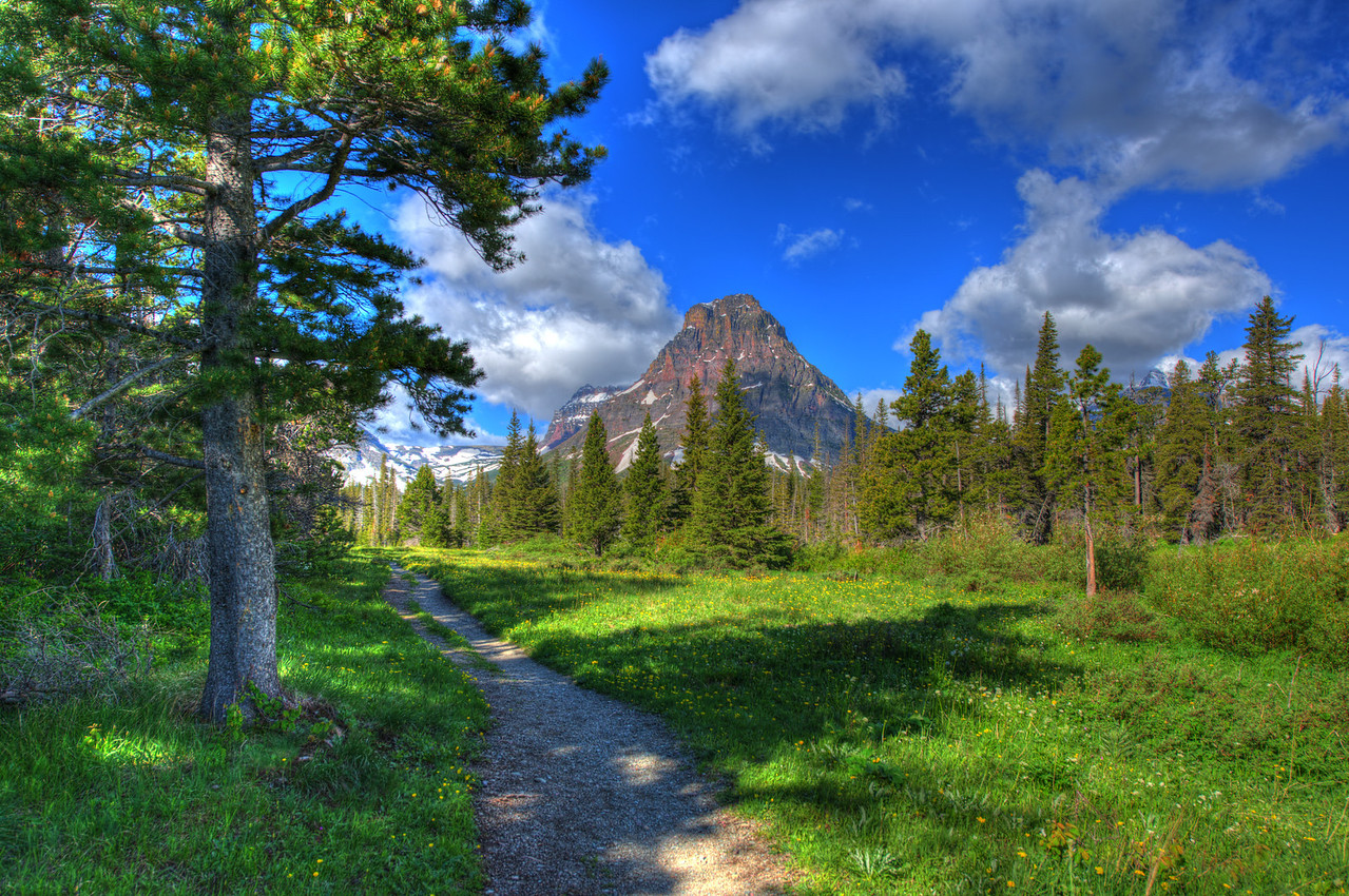 Two Medicine Lake South Shore Trail in Glacier National Park