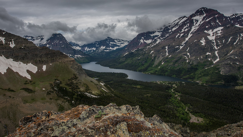 View from Scenic Point in Glacier National Park
