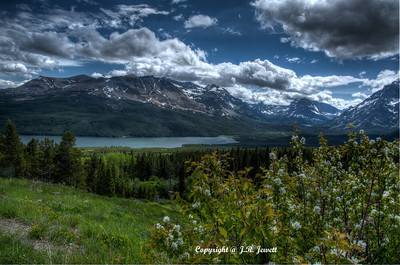 Lower Two Medicine lake in Glacier National Park