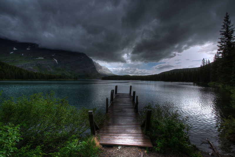 Swiftcurrent Lake with Storm moving in