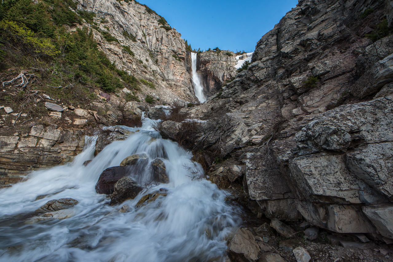 Apikuni Falls in Glacier National Park