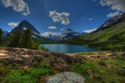 Swiftcurrent Lake in Many Glacier Area of Glacier National Park