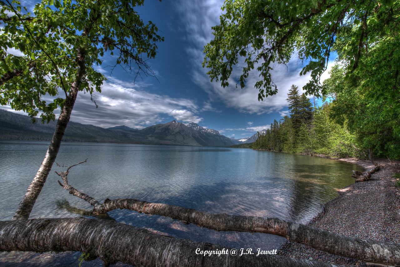 Lake McDonald in Glacier National Park, Montana