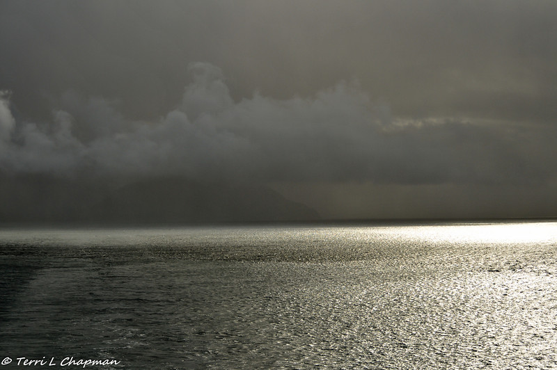 The weather changed quickly on the way to Glacier Bay. It was storming one minute and then the sun started to shine.
