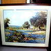 Framed Fine Art Print Featuring a Painted Nature Scene. #19   <b>$20</b></font>