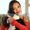 The gorgeous Jennifer Linch, Valentine day with her rescue pet.