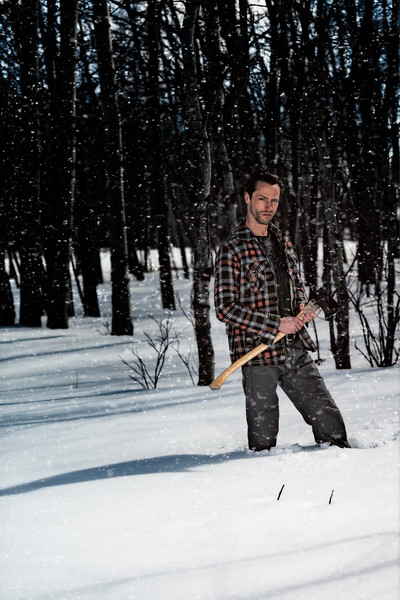 Model Ian Shaw the Lumberjack