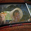 Models:Naomi Rebecca Young & Max Morin.<br /> I think Naomi was thinking when will Dean let me out of this bug and cobweb infested truck. I thick the shot was looking cool with the tattered headliner coming down and the twigs from the trees over the truck.