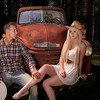 Models:Naomi Rebecca Young & Max Morin<br /> Max and Naomi posing on the truck. in this shot I popped fill flash a flash on the beautiful couple and added a bit of light to the cab of the truck.
