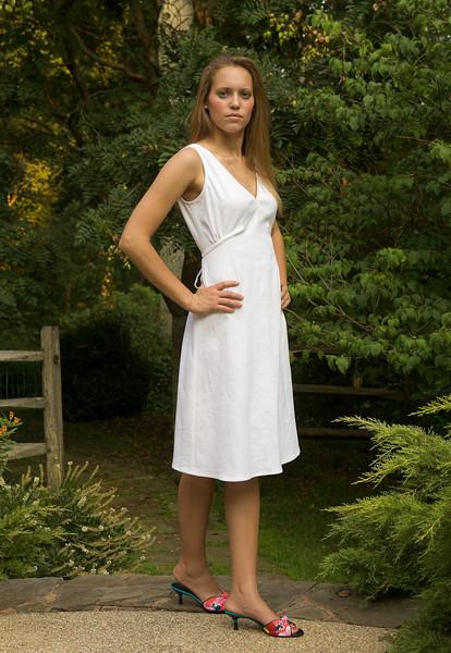 Rebecca in white