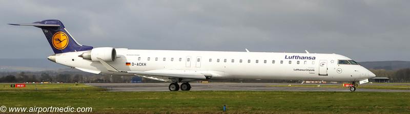 D-ACKH Bombardier CRJ-900 Lufthansa CityLine @ Glasgow Airport (EGPF)